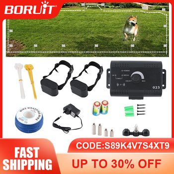 Electric Dog Fence Kit Waterproof Training Dog Collar Electronic Remote Shock Dog Collar Pet Fence Containment System for 2 Dogs