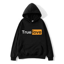 2019Autumn Winter Sweatshirts Hot Sale Fashion Truelove Mens Hoodies Warm Funny Pullovers Casual hip hop hoody New Men Tracksuit(China)