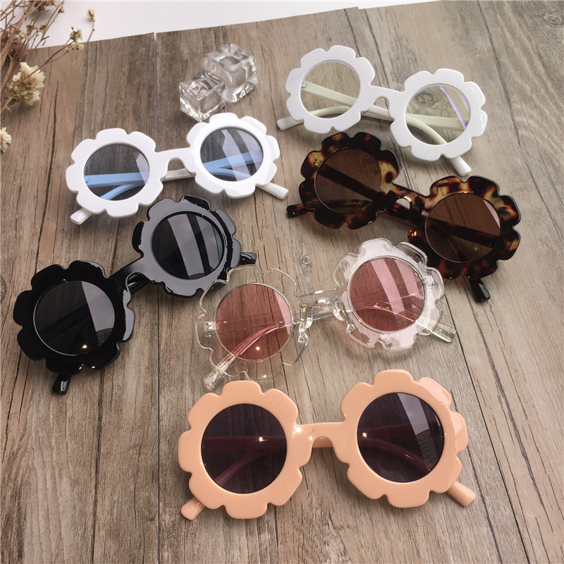 New Toddler Summer Kids Baby Girls Beach Sunglasses Child Baby Sun Outdoor Wear Sunflower Glasses Kids Gift UV400