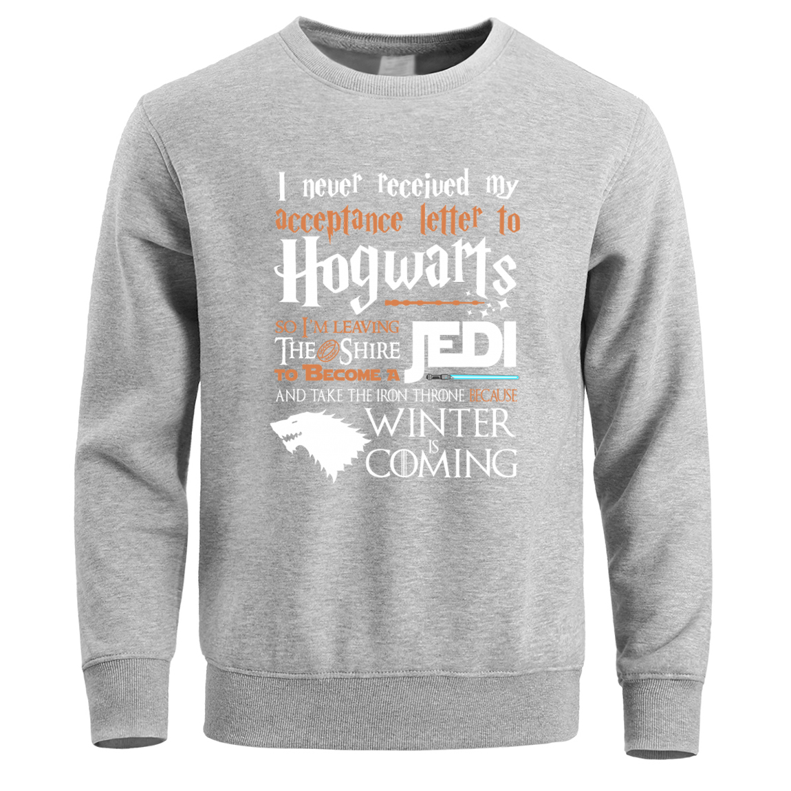Hogwarts Game Of Thrones Star Wars Jedi Sweatshirt Hoodies Men Pullover Hoodie Sweatshirts Winter Fleece Warm Hoody Crewneck