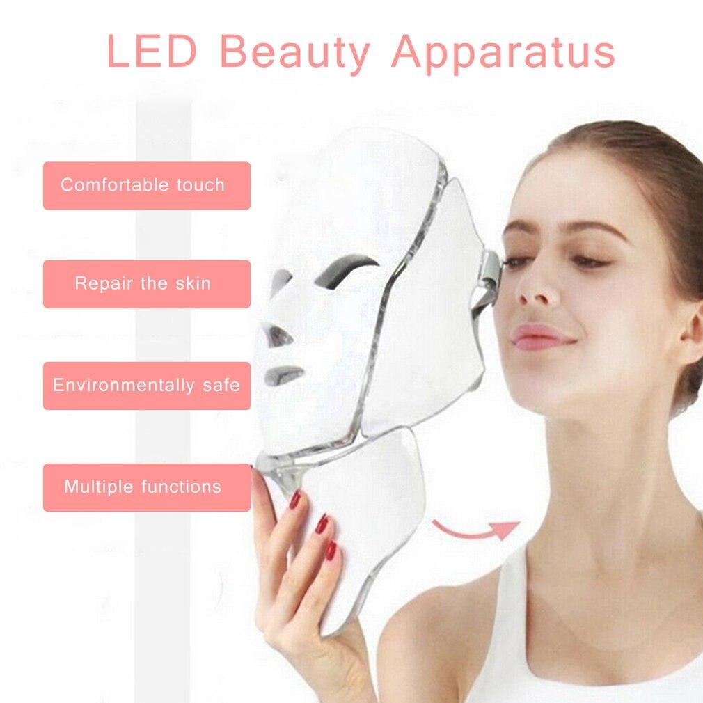 pele terapia rosto máscara pescoço luz infravermelha