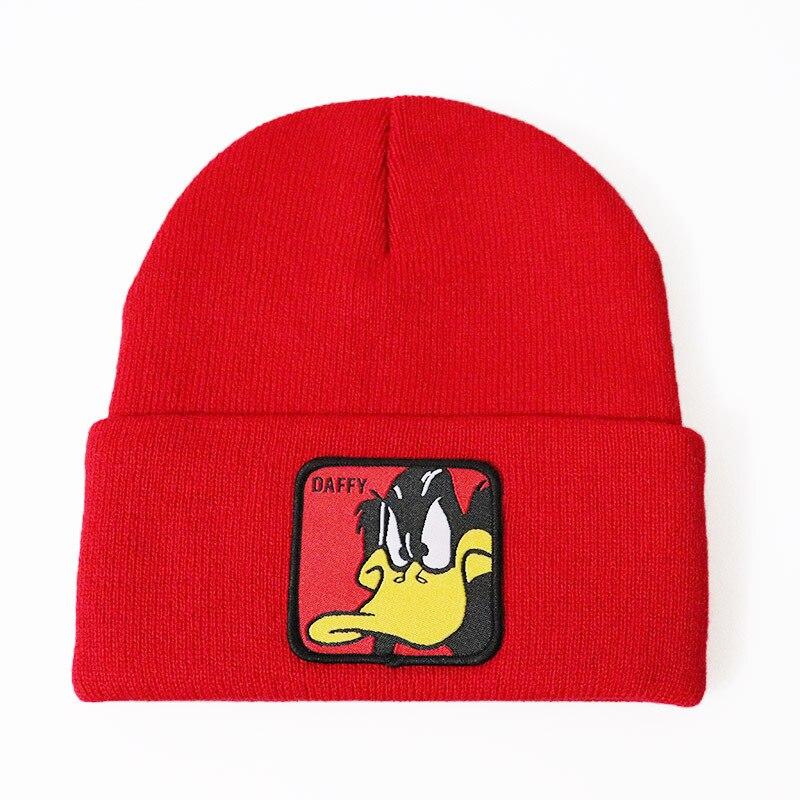 Men /& Women Cartoon of A Rubber Duck Outdoor Stretch Knit Beanies Hat Soft Winter Skull Caps