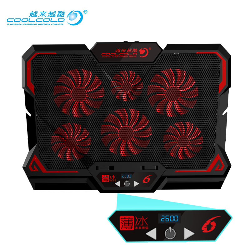 Cooler Notebook Cooling Pad Gaming Cooler Stand Silent Powerful Air Fans 2 USB Ports Stand For Laptop