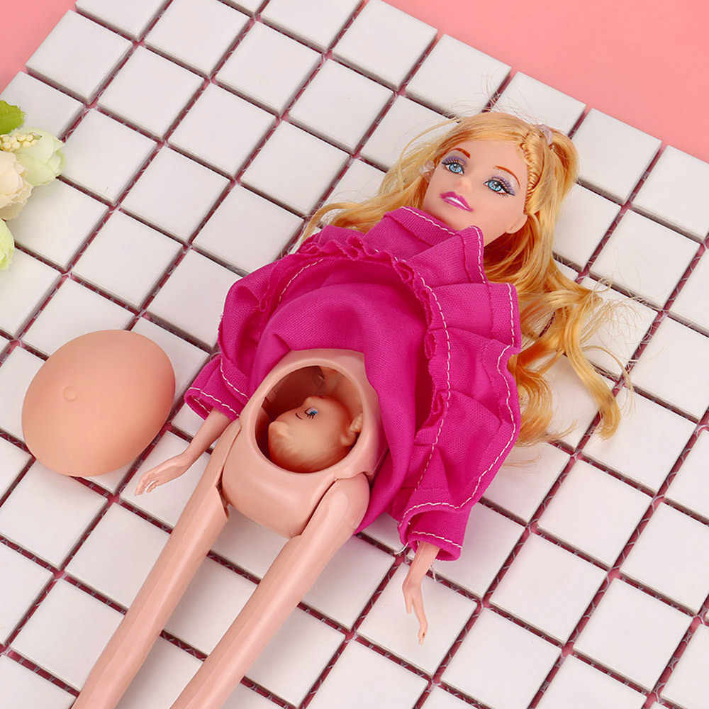 Toy Dolls Pregnant Babyborn Dress Real Pregnant Doll Suit Doll Have A Baby In Her Tummy Baby Dolls Child Toys barbie doll