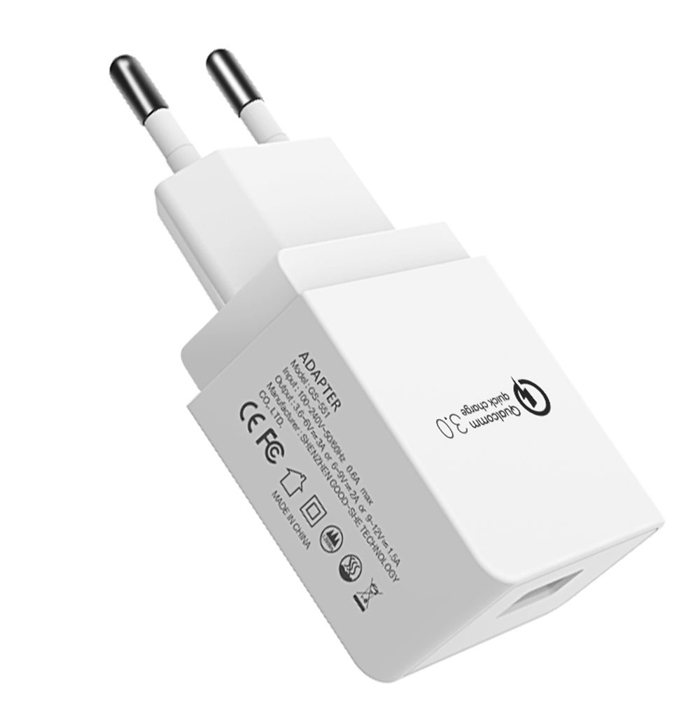 Quick Charge 3.0 18W USB Wall Charger Adapter Smart IC for Samsung S10 S9 Note 9 8 Xiaomi LG HTC Mobile Phone QC3.0 Fast Charger (7)