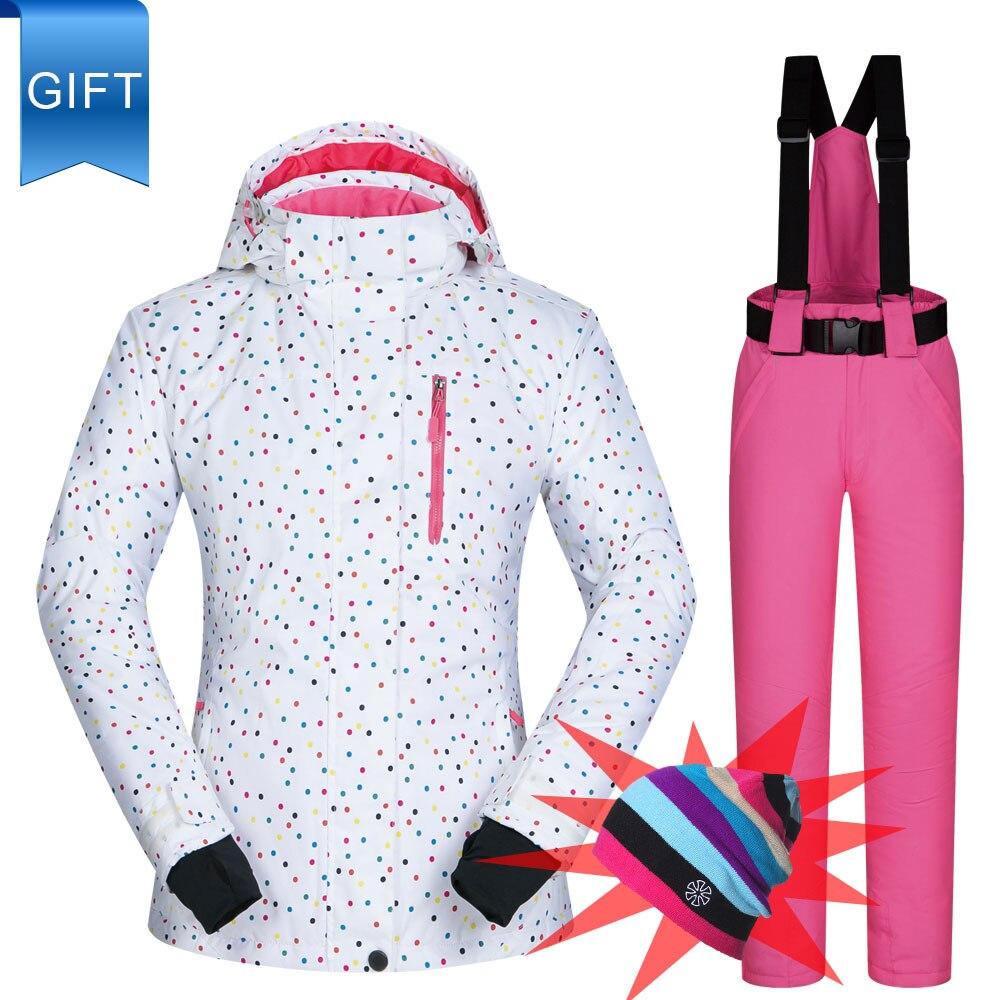 Женский лыжный костюм BDD, ветрозащитный водонепроницаемый Зимний костюм, брюки и куртки для горного сноуборда, куртка для женщин|Лыжные куртки|   | АлиЭкспресс
