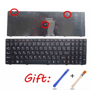 russian laptop keyboard for LENOVO G580 Z580A G585 Z585 G590 Z580 MP-10A33SU-686CW RU notebook replace with frame black(China)