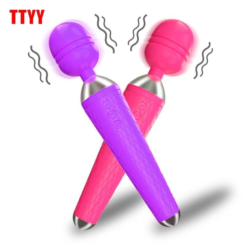 AV vibratör seks oyuncakları kadın G noktası masaj için güçlü sihirli değnek klitoris stimülatörü titreşimli yapay penis kadın seks ürünleri