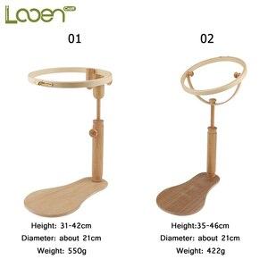 Image 2 - Looenเย็บปักถักร้อยเย็บปักถักร้อยStand Hoopไม้เย็บปักถักร้อยและCross Stitch Hoopชุดแหวนกรอบปรับเย็บเครื่องมือ1Pc