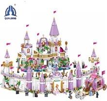 7 ב 1 נסיכי וינדזור טירה תואם Legoings חבר ילדה DIY דגם אבני בניין צעצועי ילדה ילדי חג המולד מתנות