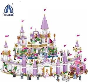 Image 1 - 7 で 1 王子ウィンザー城互換 Legoings フレンドガール DIY モデルビルディングブロックのおもちゃ少女の子供ギフト