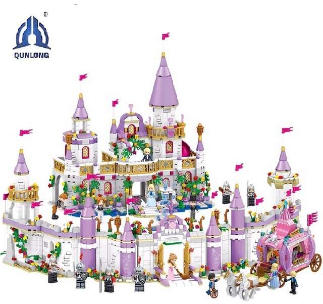 7 で 1 王子ウィンザー城互換 Legoings フレンドガール DIY モデルビルディングブロックのおもちゃ少女の子供ギフト