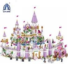 7 in 1 Princes Windsor Castle Kompatibel Legoings Freund Mädchen DIY Modell Bausteine Spielzeug Mädchen Kinder Weihnachten Geschenke
