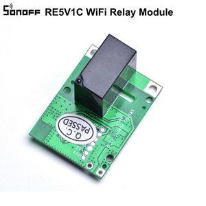 Image 2 - 5 قطعة SONOFF RE5V1C Wifi لتقوم بها بنفسك التبديل 5 فولت تيار مستمر وحدة التتابع الذكية اللاسلكية مفاتيح inting/الذاتي قفل وسائط APP/صوت بعيد تشغيل/إيقاف