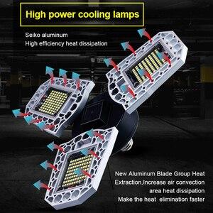 Image 4 - Goodland светодиодный светильник E27 Светодиодный светильник 60 Вт 80 Вт 100 Вт светильник для гаража 110 В 220 В деформированный светильник для мастерской, склада, спортзала