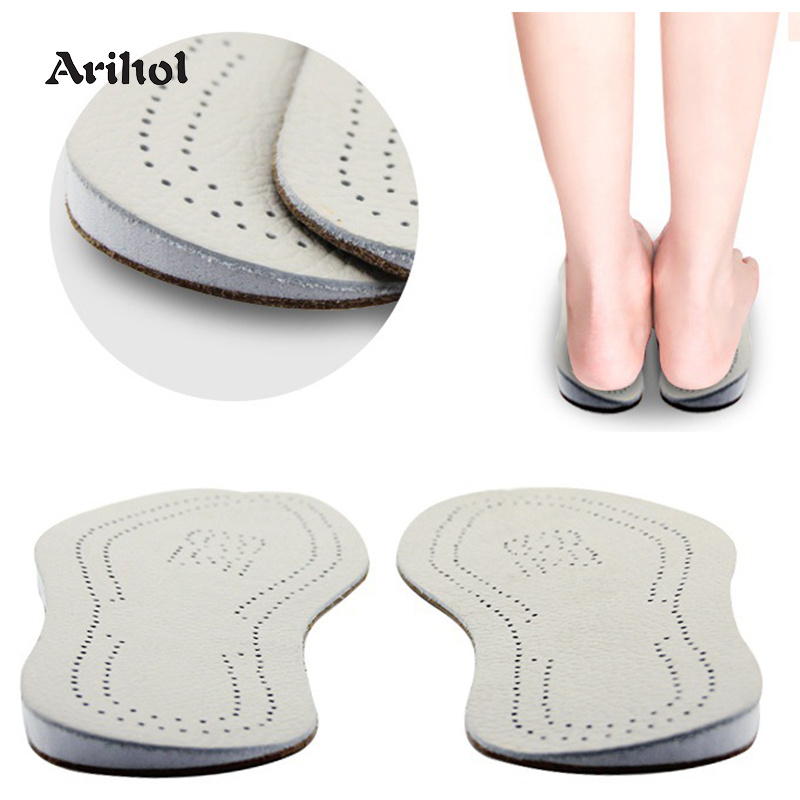 Genuine Leather O/X Leg Orthopedic Insoles Correction Shoe Inserts For Foot Alignment Knock Knee Pain Bow Legs Valgus Varus