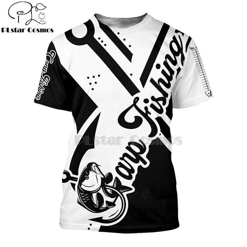2020 새로운 패션 남자 hoodies 3D 인쇄 t 셔츠 새로운 잉어 패션 동물 낚시 아트 t 셔츠 티셔츠 반바지 슬리브 의류 Unisex -4