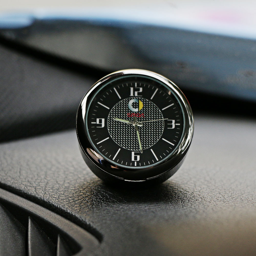 For Smart 451 453 fortwo forfour Car Dashboard Ornament Clock Auto Watch Outlet Clip Interior Decoration Car Accessories