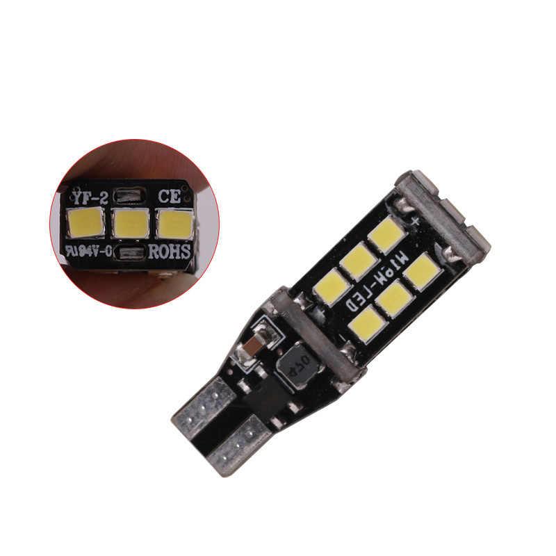 2 Pcs T15 W16W WY16W 15 SMD 2835 LED Auto Rem Tambahan Lampu CANBUS Ada Kesalahan Lampu Mundur Mobil Mengubah Mobil-Sinyal Sangat Jual, Mobil Styling