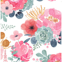 Flower Wallpaper Peeled And Pasted White/Pink/Green/Navy Blue Vinyl Self-adhesive  Contact Paper Bedroom Walls  Home Decoration