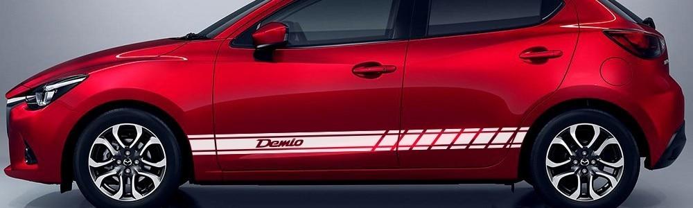 Ruiziliang 4pcs//lot New Car Door Sills Protector Stickers for Mazda CX-3 CX-5 Color Name : Cx 3 red
