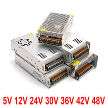 SMPS switching power supply with metal shell power supply block has AC-DC voltage of 220 V to 24 V 36 V and 48 V 5 v