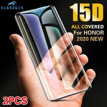 Перейти на Алиэкспресс и купить 2 шт 3D Покрытие Закаленное стекло для Huawei Honor 10 Lite V20 V30 9X Защитное стекло для Honor 20 Honor Play 3e Полное стекло пленка