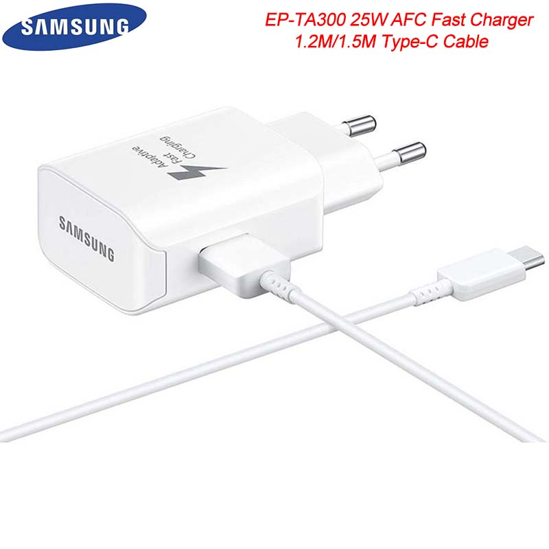 25W Samsung Adaptive Fast Charger Adapter AFC USB 3.0 Type C Data Cable For Galaxy S8 S9 S10 Note 8 9 10 30 A50 A70 A90 A80
