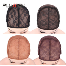 Factory Directly Supply 10Pcs Wig Cap Small Medium Large Cap Size Wig Tools Lace Cap For Making Wigs With Adjustable Band