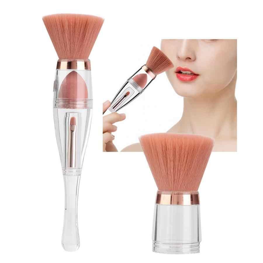 3 en 1 multi-fonctionnel cosmétique brosse fond de teint poudre correcteur yeux lèvres pinceau maquillage outil professionnel pinceaux de maquillage