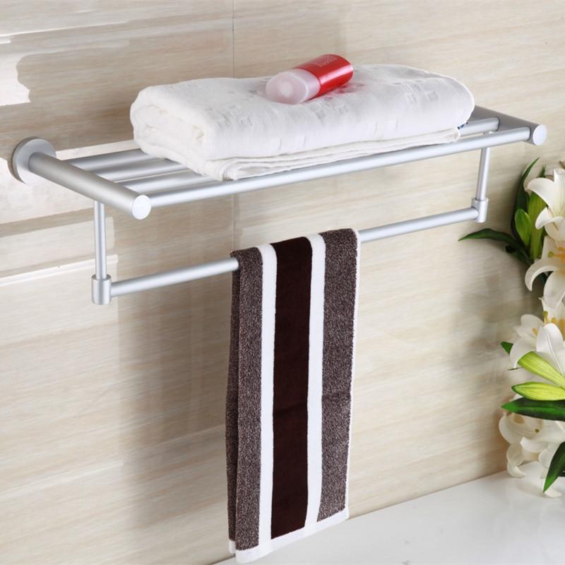 Hotel Engineering Towel Rack Alumimum Towel Rack Bathroom Hair Rod Wall Hangers Storage Shelf Hardware Accessories Wholesale Cus
