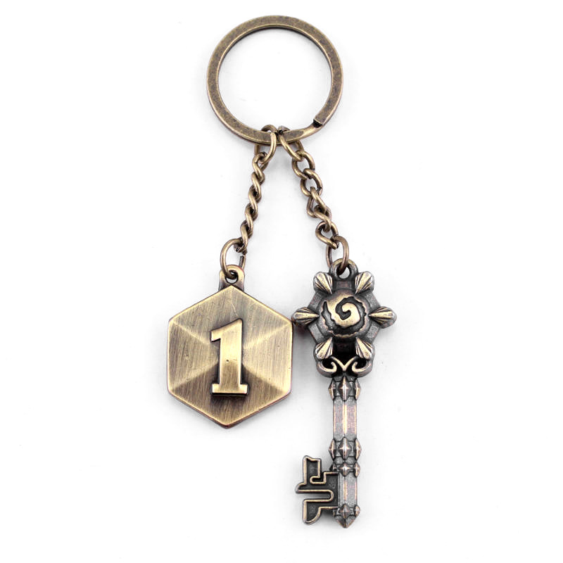 card competitive online game style key chain two metal pendant key modeling creative personality small gift accessoris image