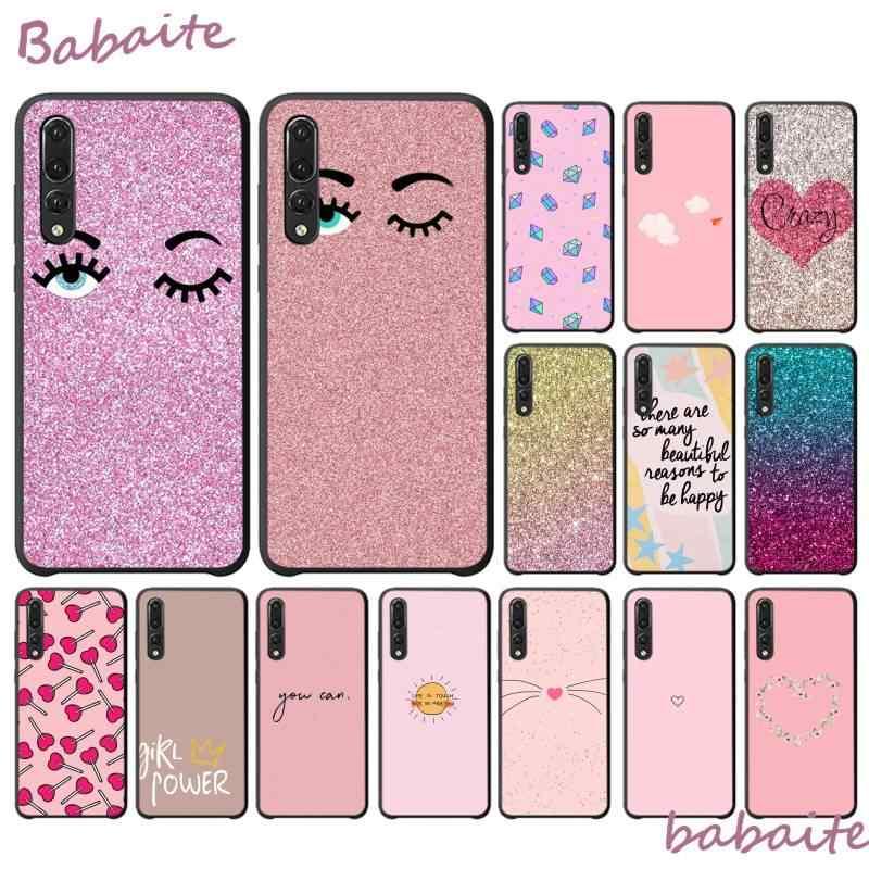Babaite 無地ピンクの高級ユニークな phonecase ため HuaweiP30 プロ lite psmart P20LITE 2018 ノヴァ 2 2I 2 プラス 2 sp スマートプラス