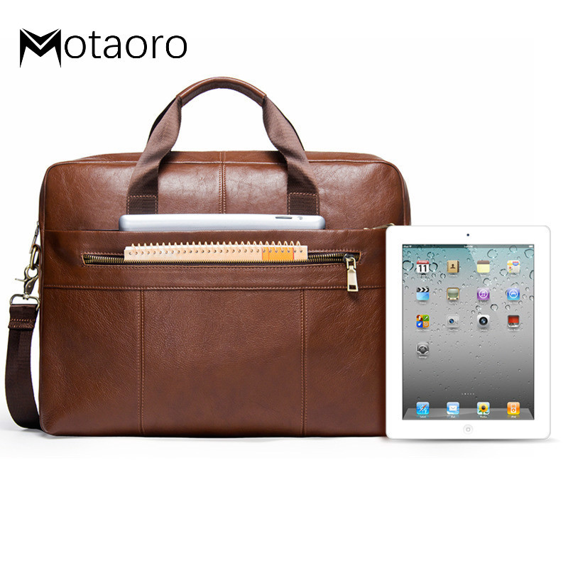 New Genuine Leather Men Briefcase For 17.3 Inch Laptop Natural Cowhide Men's Crossbody Bags Large Business Shoulder Bags For Man