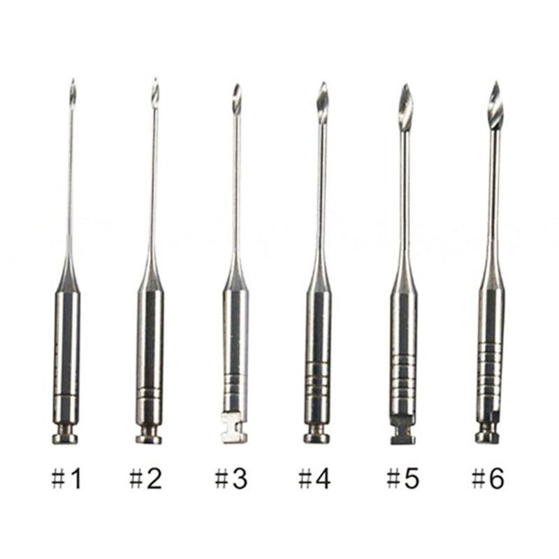 6Pcs/Set Dental Endodontic Reamers Drill Burs 32mm Dental Drills Gates Glidden Drills Dentist Materials Dental Endodontic Files