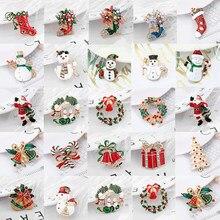 TOGORY – broche de noël de luxe exquise, guirlande de botte bonhomme de neige père noël, bijoux à la mode, cadeau de décoration de noël