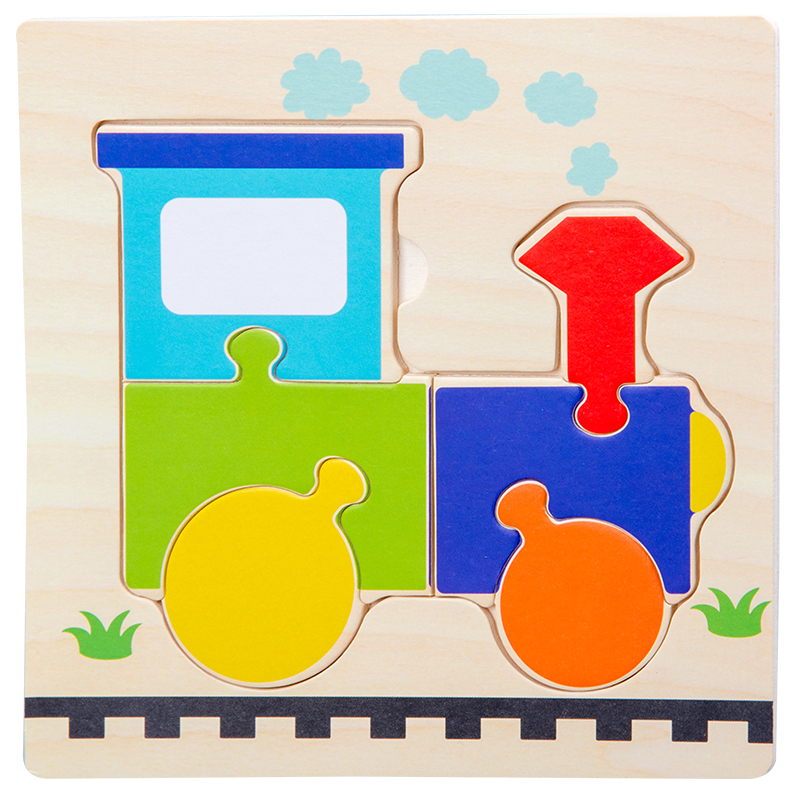 Baby Toys Wooden 3d Puzzle Tangram Shapes Learning Cartoon Animal Intelligence Jigsaw Puzzle Toys For Children Educational 13