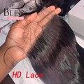 Невидимые фронтальные зажимы на сетке HD 5x5, прямые человеческие волосы Remy с детскими волосами, расплавленные шкуры 4x4, HD кружево для женщин