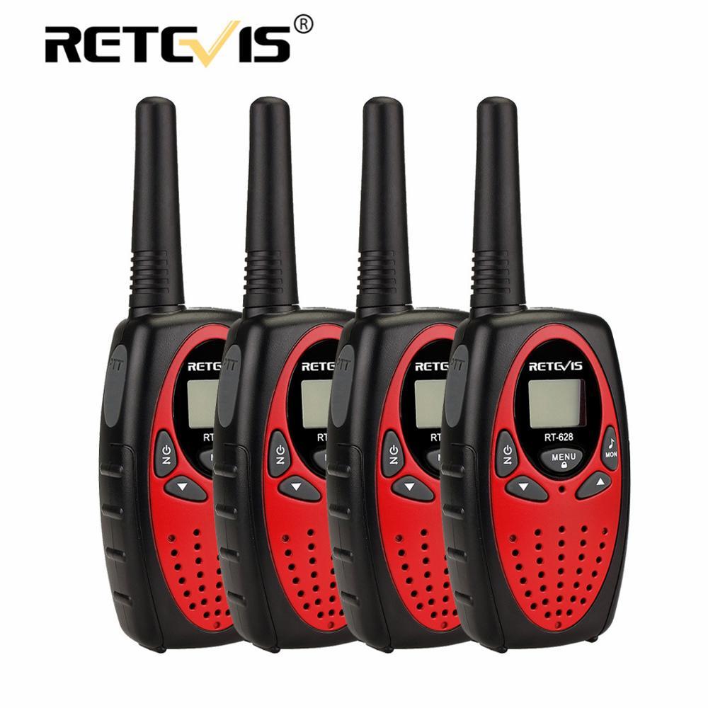 Retevis RT628  Walkie Talkie 4pcs PMR446 0.5W VOX Call Tone  Portable Radio For Hunting Christmas New Year  Gift Walk Talk