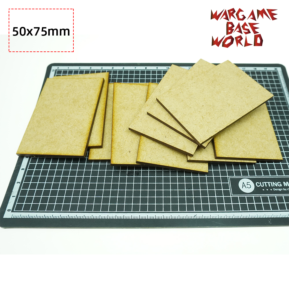 MDF Bases - Rectangle 75 X 50mm - Basing Laser Cut Wargames Wood