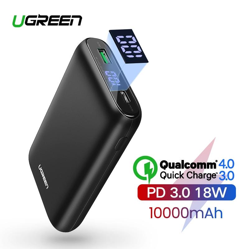 Ugreen Power Bank 10000mAh Quick Charge 4,0 3,0 QC3.0 Externe Mobile Batterie Schnelle PD Ladegerät für iPhone 11 8 xs Mini Power