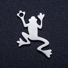 Lot de 10 breloques en forme de grenouille pour la fabrication de bijoux, en acier inoxydable 100%, breloques pour la fabrication de colliers, vente en gros