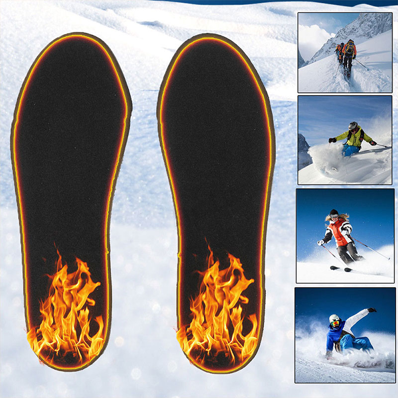 1 pair Winter Electric Heated USB Washable Rechargeable Cutable Shoes Insoles Insert Pad Foot Warmer Care equipment|Outdoor Tools| - AliExpress