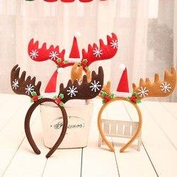 Merry Christmas Headbands Fancy Reindeer Antlers Hairband Xmas Kids Baby Hairhoop Party Decor Headwear Hot Hair Accessories Gift