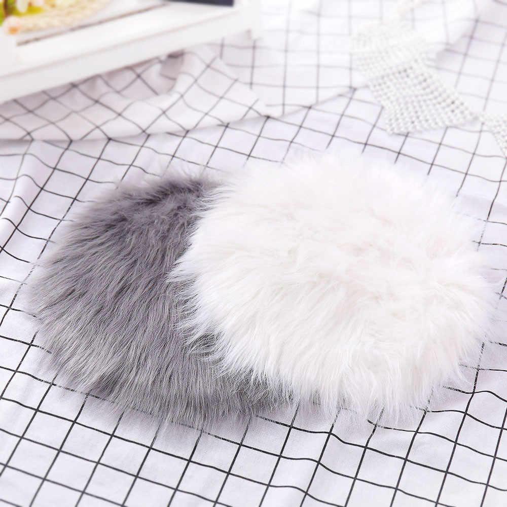 40 ^ 人工毛深いカーペットシート織物毛皮エリアラグソフト人工羊皮の敷物椅子カバー寝室のマット