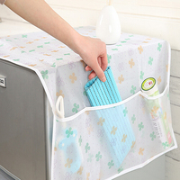 Nova impressão transparente impermeável geladeira capa toalha eletrodomésticos sacos de armazenamento lavável Capas p/ geladeira     -