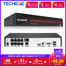 Techege 4CH 8CH HD 5MP 4MP PoE CCTV System Camera NVR All in One Network Video Recorder for PoE IP Camera P2P XMeye Russia Stock