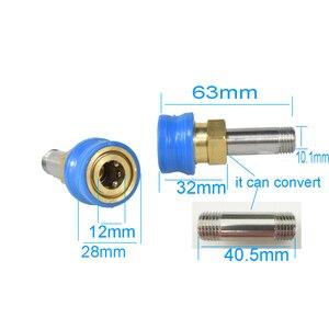 """Image 2 - Laleyenda g1/4 """"bocal de liberação rápida montagem kit conversor conector para sabão espuma arruela arma para KarcherK2 K7/lavor/nilfisk/yili"""