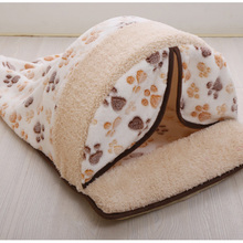 New Pet Product Cat House Bed Foldable Soft Autumn Winter Warm Sleeping Dog Sofa Kennel For Small /35