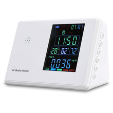 Digital co2 meter HCHO PM2.5 monitor Hygrothermograph Alarm Clock co2 Tester Air Quality